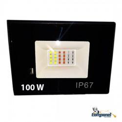 Refletor LED SMD RGB 100w ip67